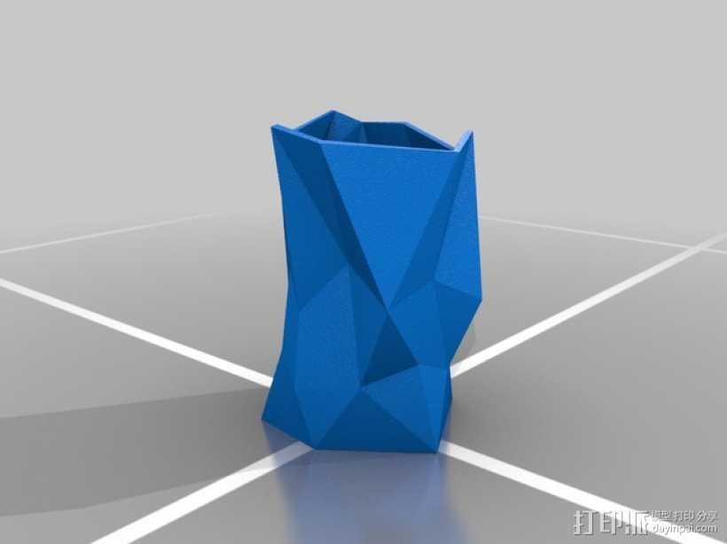 多边形花瓶 3D打印模型渲染图