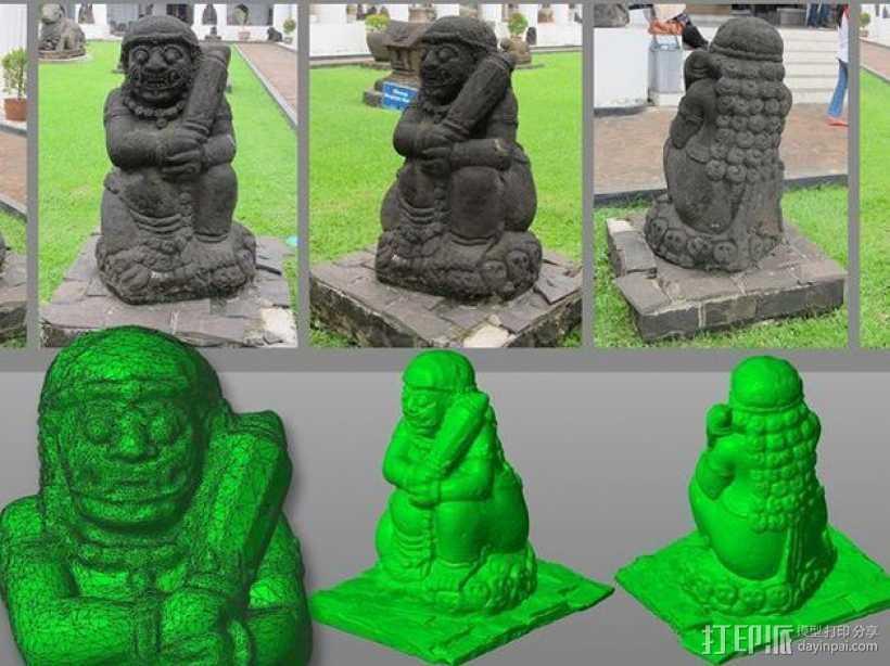 印度尼西亚守门天 3D打印模型渲染图