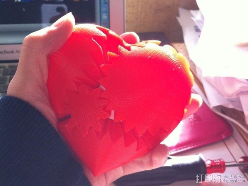 emmett's心形齿轮 3D打印模型渲染图