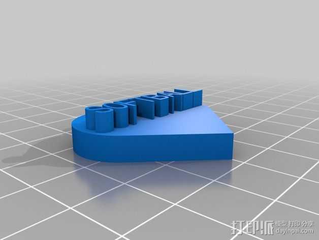 SOFTBALL 心形底座打印 3D打印模型渲染图