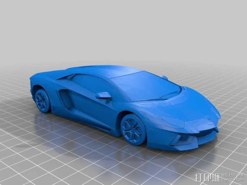 兰博基尼 3D打印模型渲染图