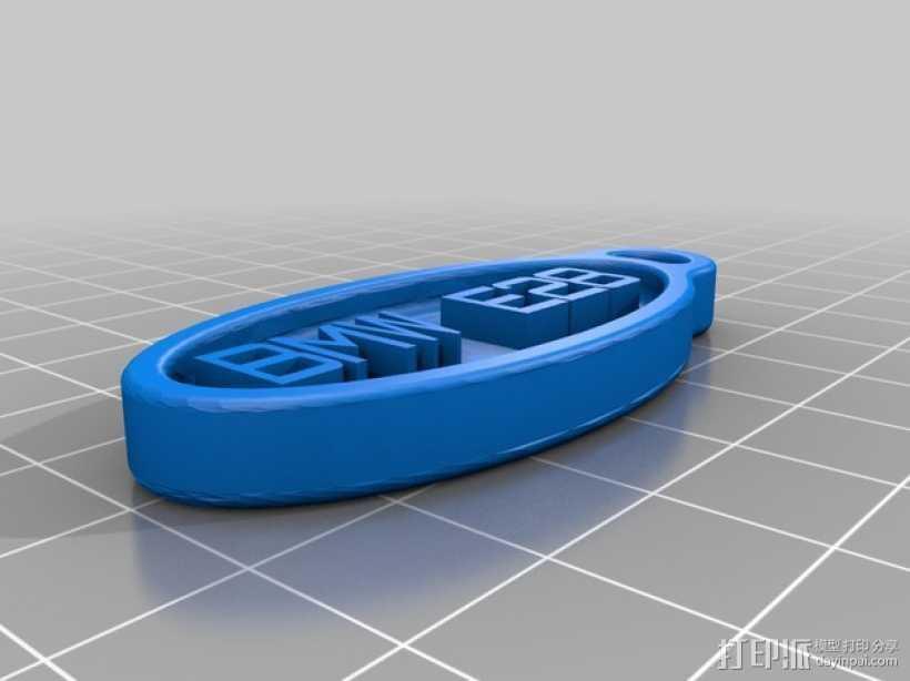 BMW E28 钥匙扣 3D打印模型渲染图