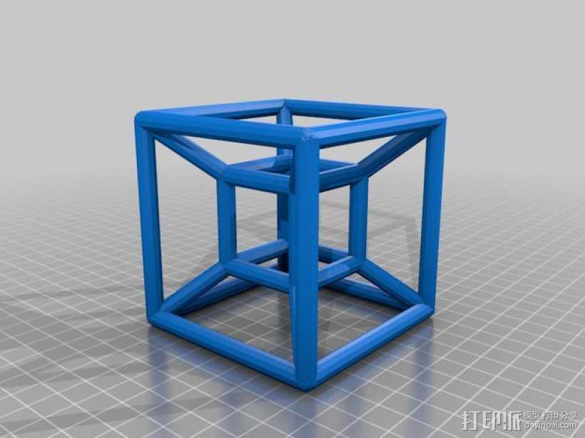 超立方体 3D打印模型渲染图