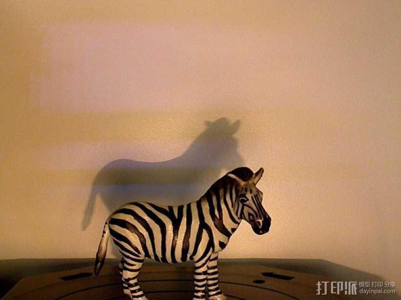 斑马 玩具 3D打印模型渲染图