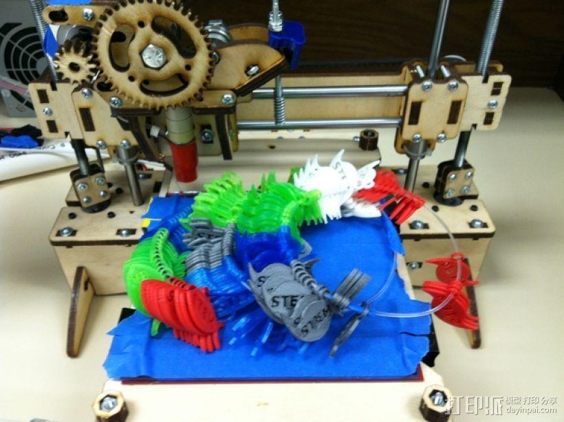 STEM优秀徽章 3D打印模型渲染图