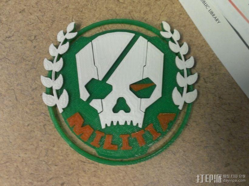 游戏《泰坦陨落》民兵标志 3D打印模型渲染图