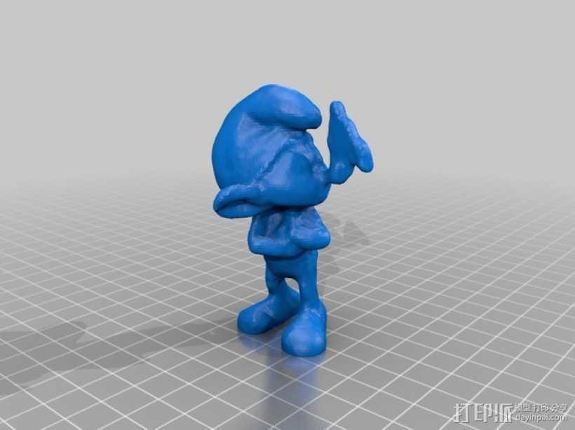 蓝精灵 grouchy 3D打印模型渲染图