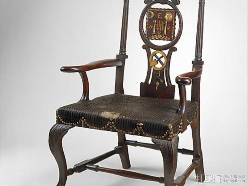 扶手椅 3D打印模型渲染图
