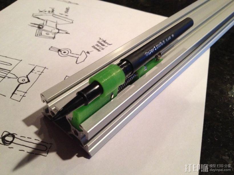 弹簧 笔筒 3D打印模型渲染图