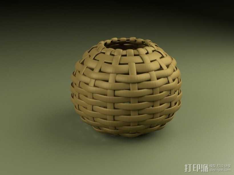 编织的碗 3D打印模型渲染图