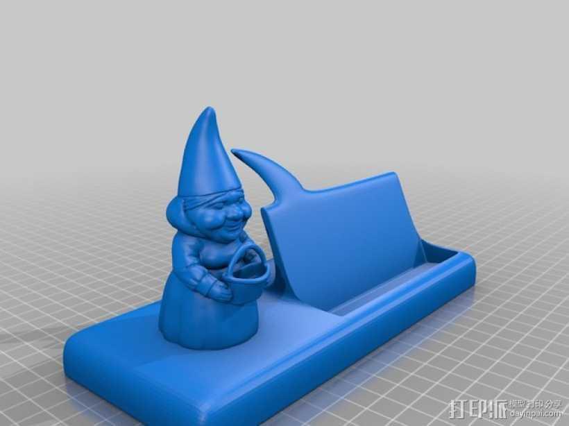 慈祥的侏儒奶奶 3D打印模型渲染图