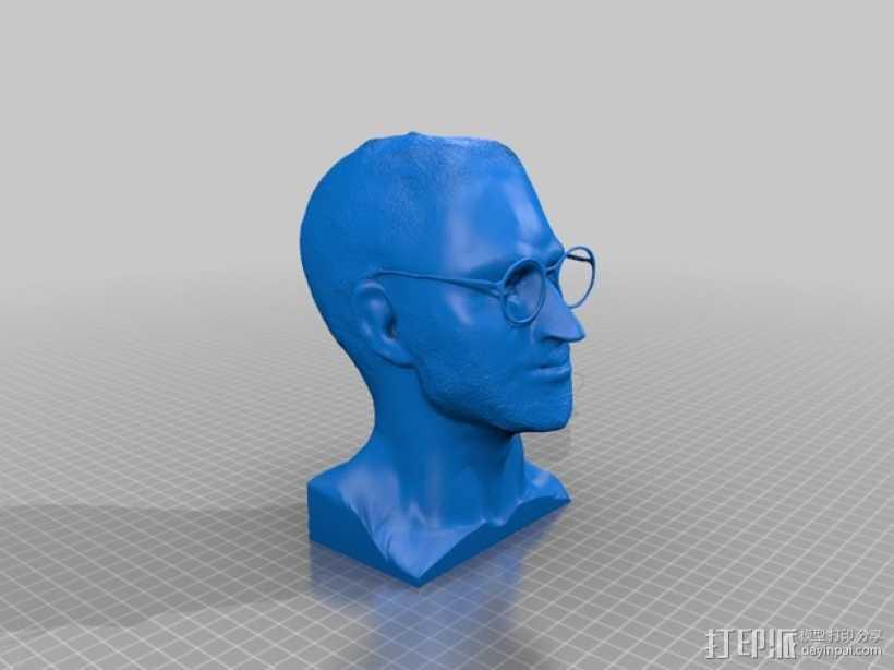 乔布斯 头像 3D打印模型渲染图