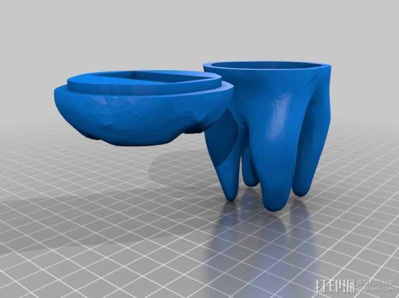 牙齿 容器 3D打印模型渲染图