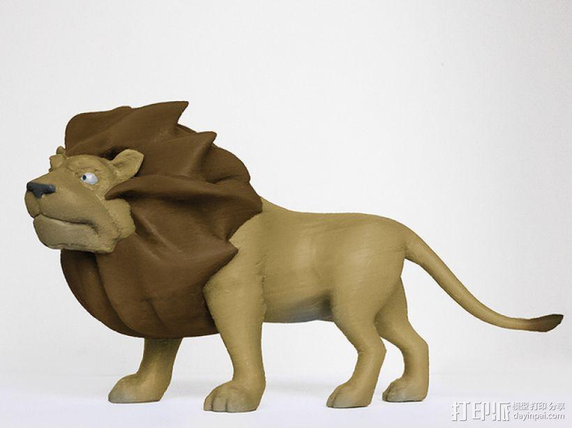 雄伟的狮子 3D打印模型渲染图