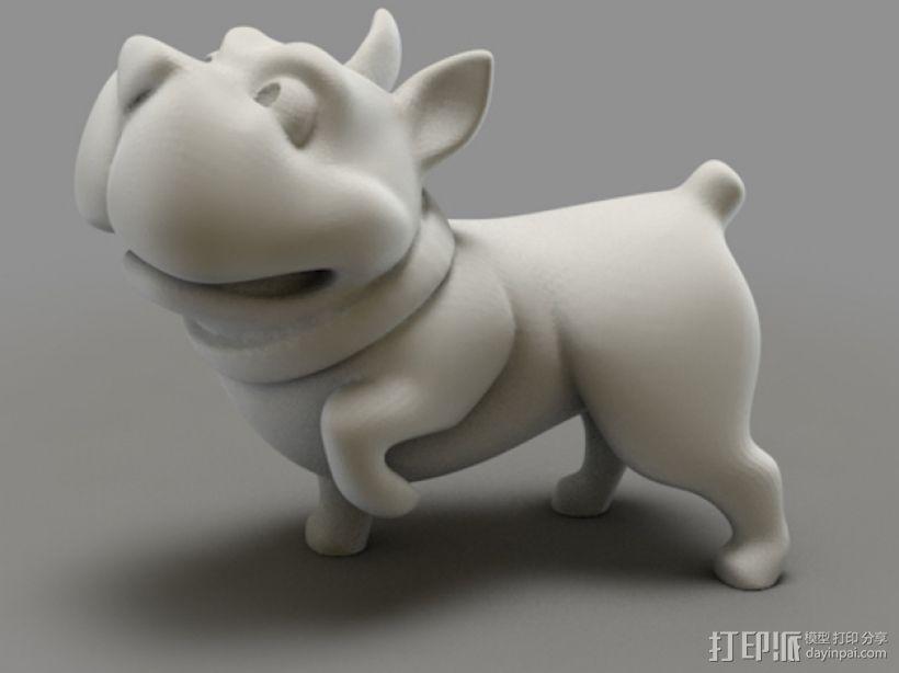 斗牛犬 3D打印模型渲染图