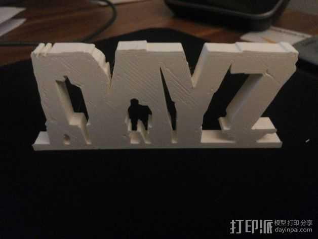 DayZ 标志 3D打印模型渲染图