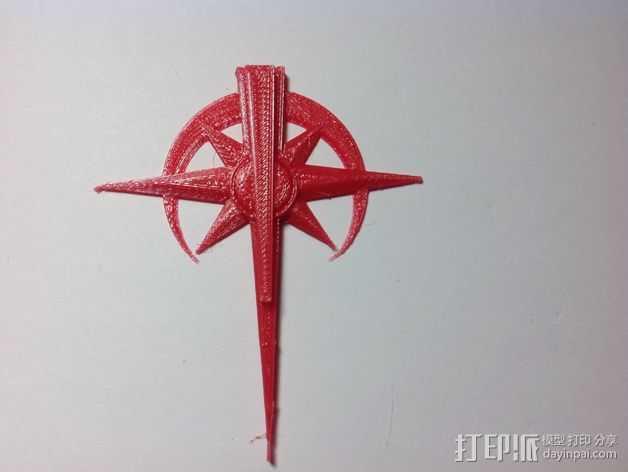 游戏《荒野星球》自治者 标志 3D打印模型渲染图