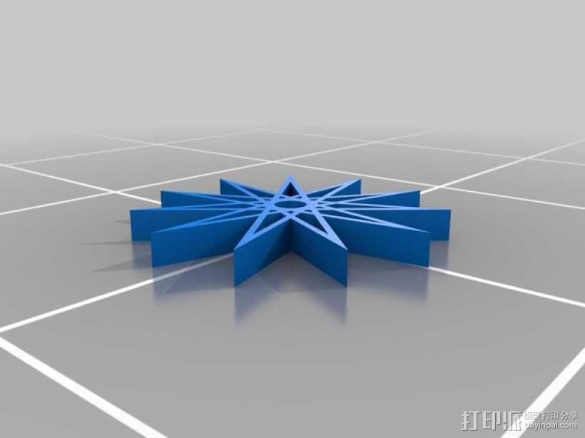 11边星星 3D打印模型渲染图