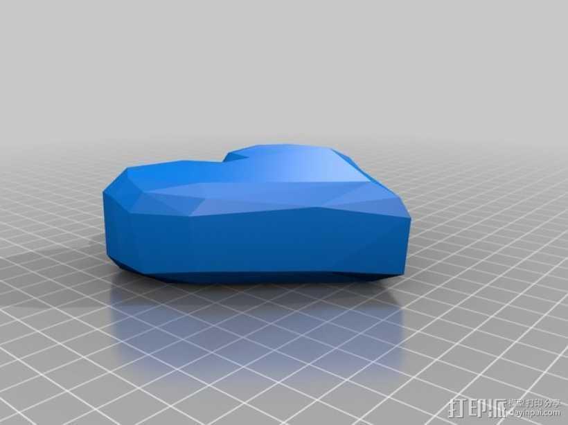 心形装饰品 3D打印模型渲染图