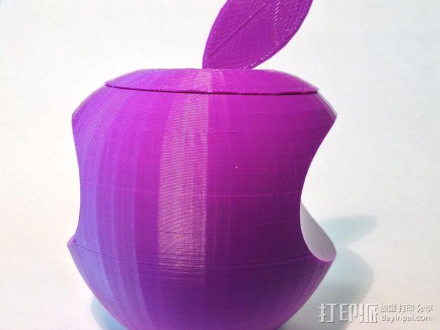 美国动画《辛普森一家》中苹果手机Mapple标志 3D打印模型渲染图