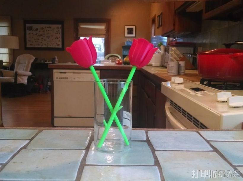 带刺玫瑰 3D打印模型渲染图