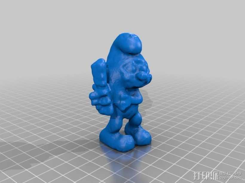 brainieee 蓝精灵 3D打印模型渲染图