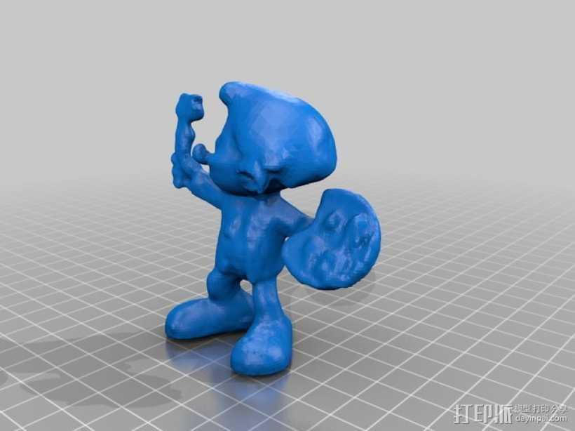 蓝精灵画家  画画 3D打印模型渲染图