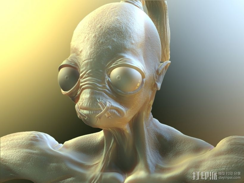 游戏《奇异世界》亚伯 3D打印模型渲染图