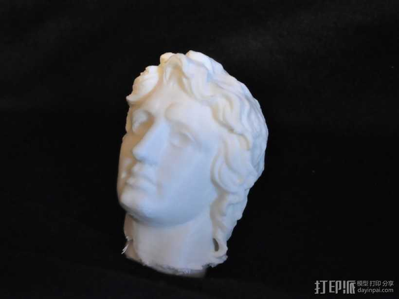 亚历山大 头像 3D打印模型渲染图