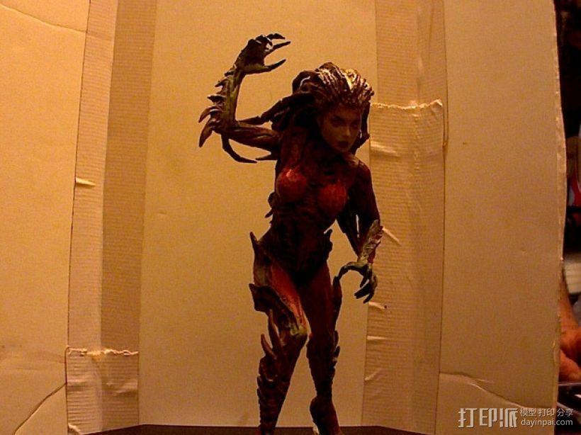 刀锋女王 3D打印模型渲染图