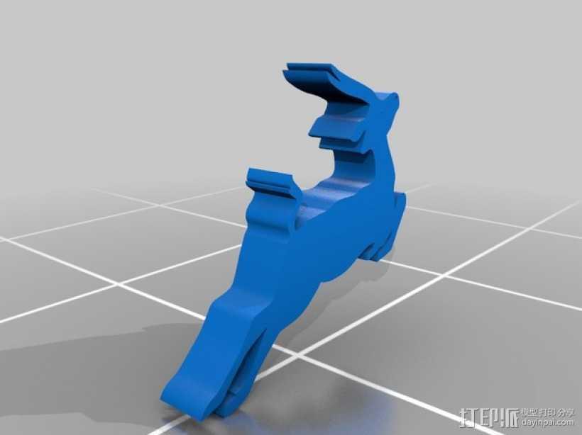 鹿 装饰品 3D打印模型渲染图