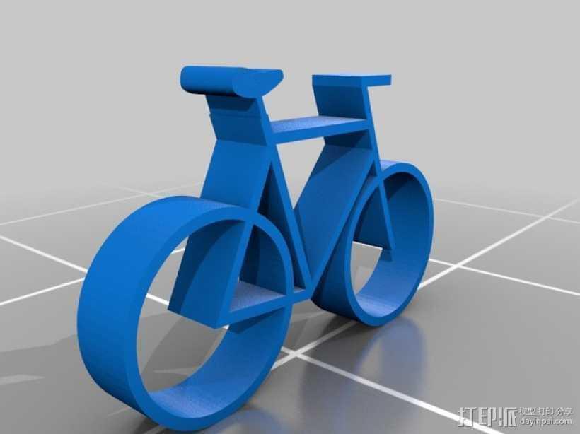 迷你自行车  3D打印模型渲染图