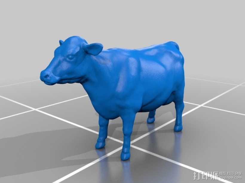 奶牛 雕塑 3D打印模型渲染图