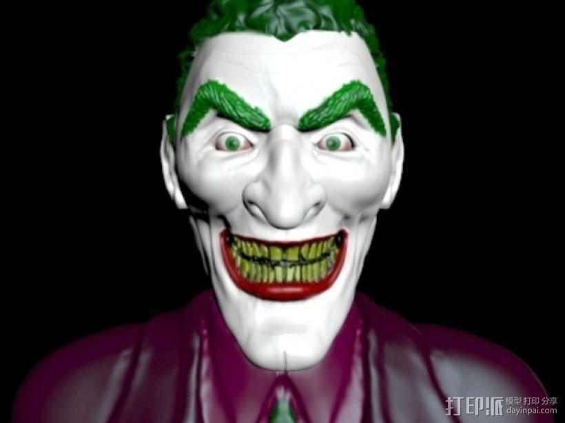 小丑 头像 3D打印模型渲染图