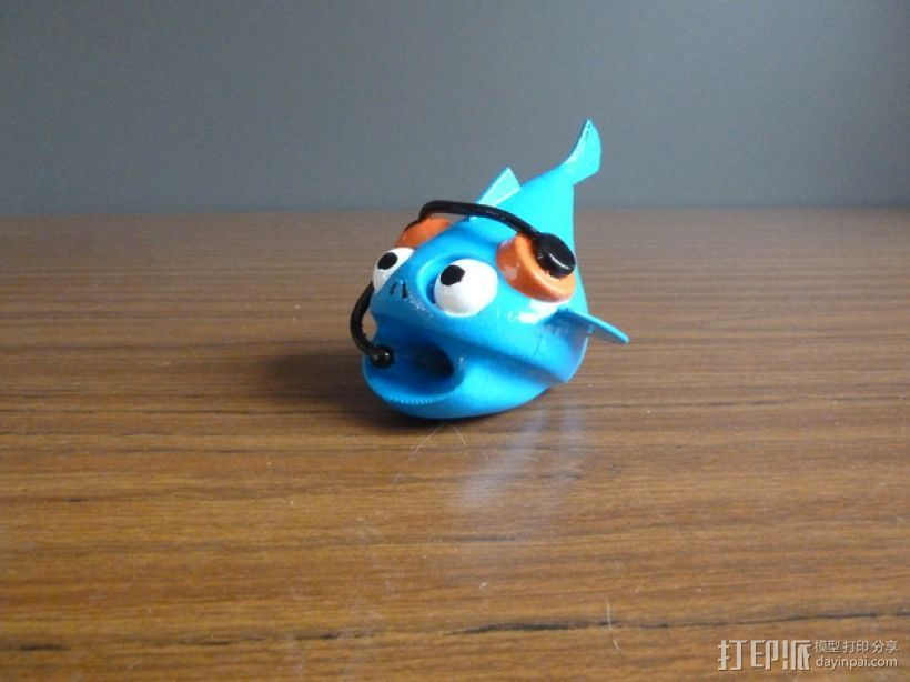 小鱼 3D打印模型渲染图