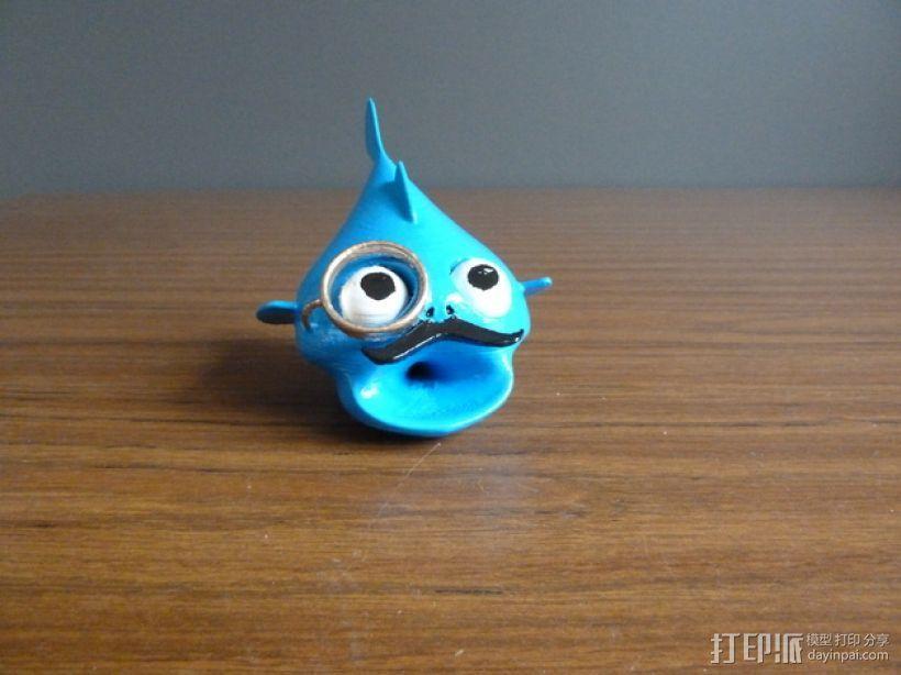 鱼先生 玩偶 3D打印模型渲染图