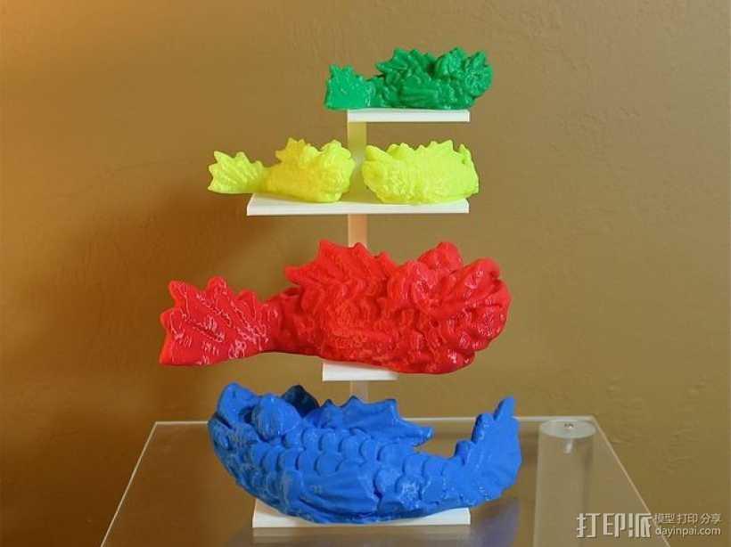 个性化小鱼 装饰品 3D打印模型渲染图