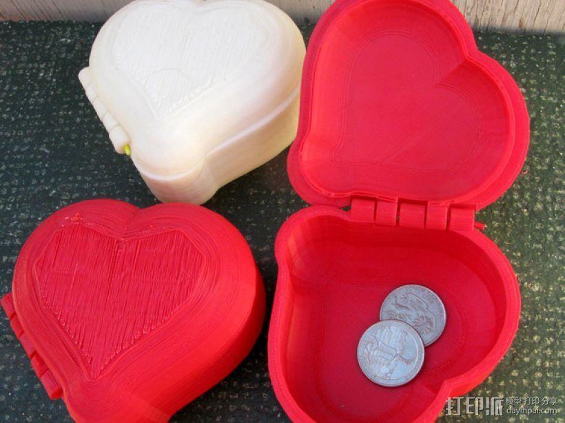心形小盒 3D打印模型渲染图