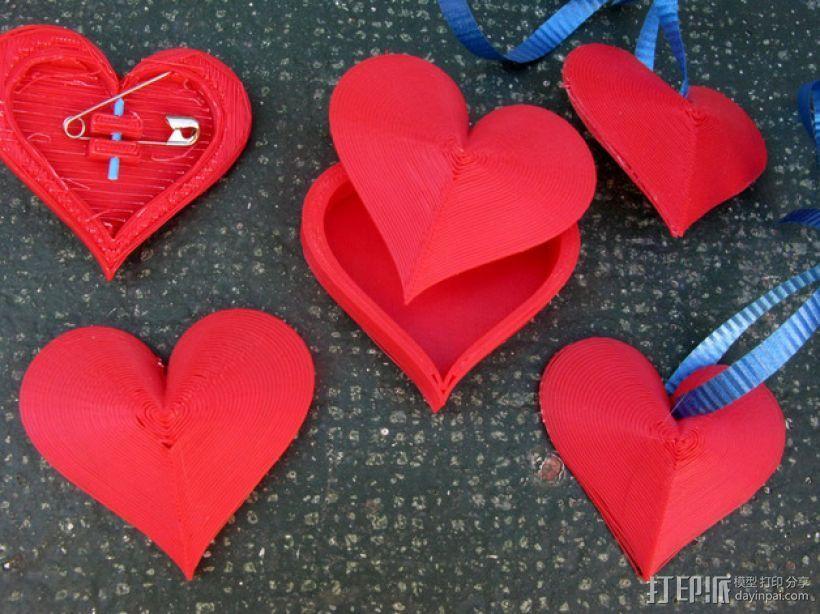心形小盒 情人节礼物盒 3D打印模型渲染图