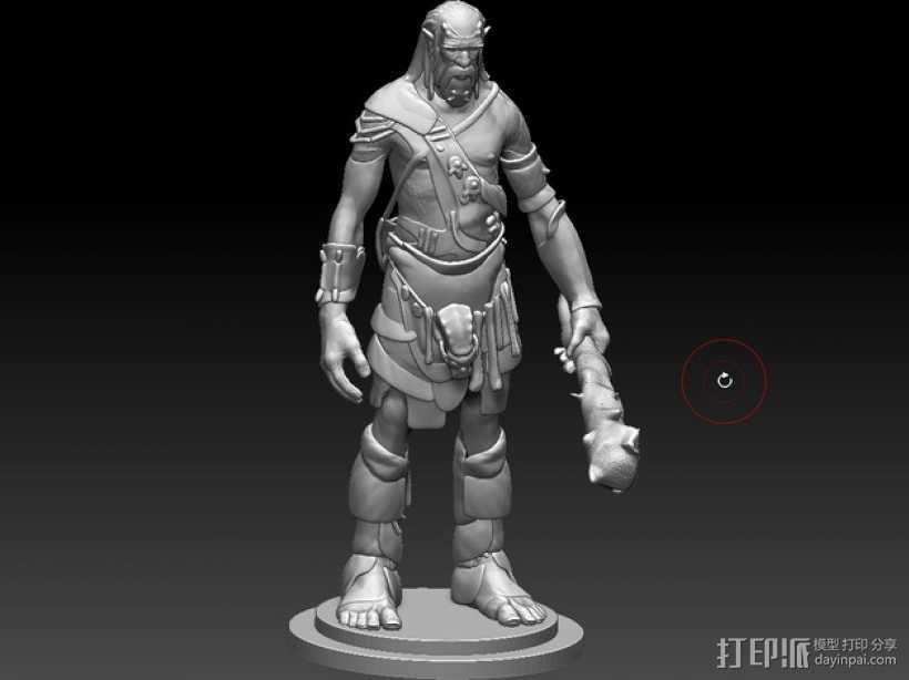 游戏《天际》巨人 3D打印模型渲染图