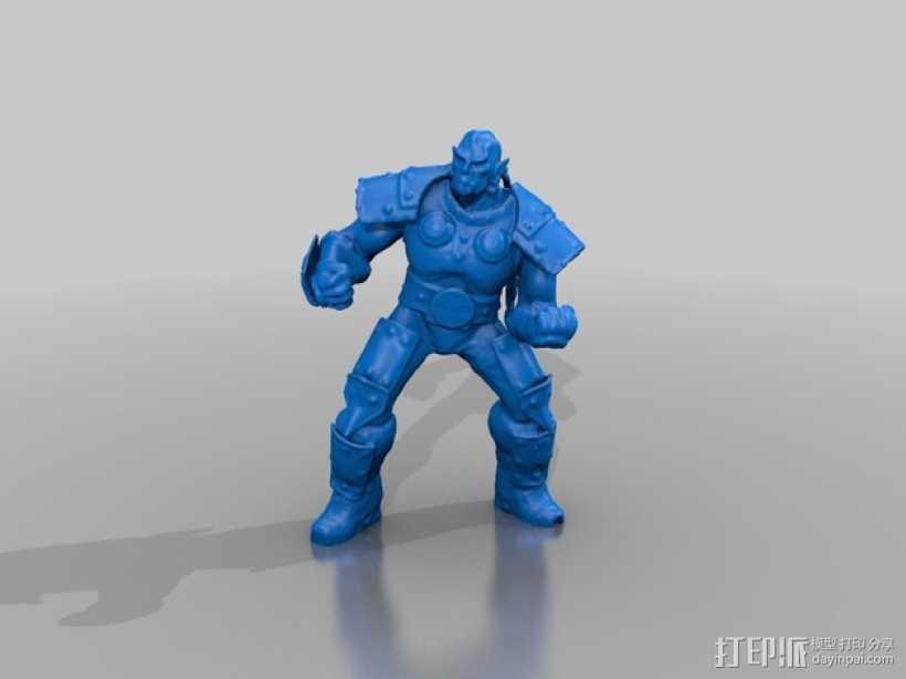 Thrall  人偶 3D打印模型渲染图
