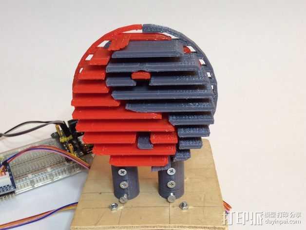 阴阳八卦图 标志 3D打印模型渲染图