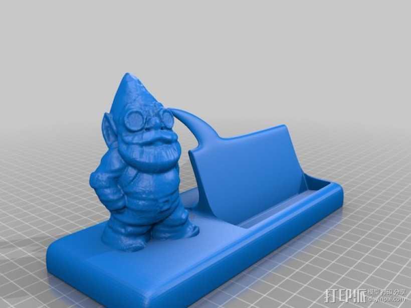 精灵 名片架 3D打印模型渲染图