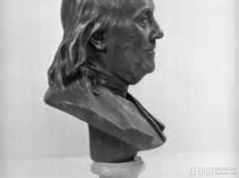 本杰明富兰克林雕塑 3D打印模型渲染图