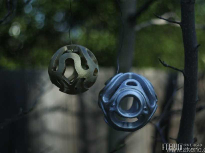 镂空小球 Orbus 3D打印模型渲染图