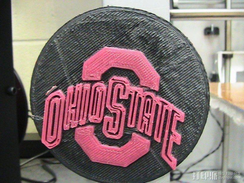 俄亥俄州立大学标识 3D打印模型渲染图