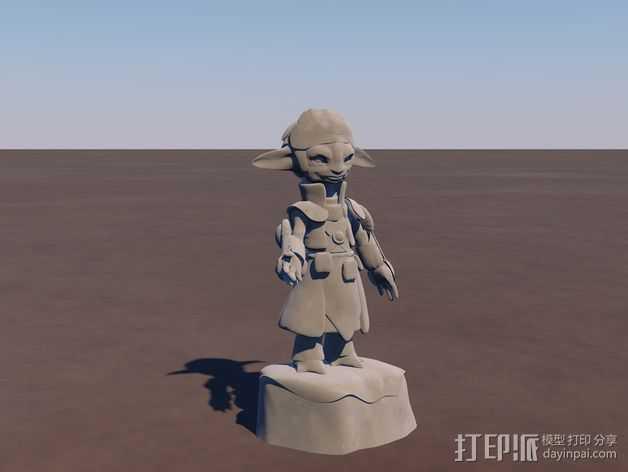 游戏《激战(GuildWars2)》人物Snaff 3D打印模型渲染图