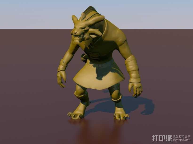 游戏《激战(GuildWars2)》人物 Bronko Grimmflamm 3D打印模型渲染图