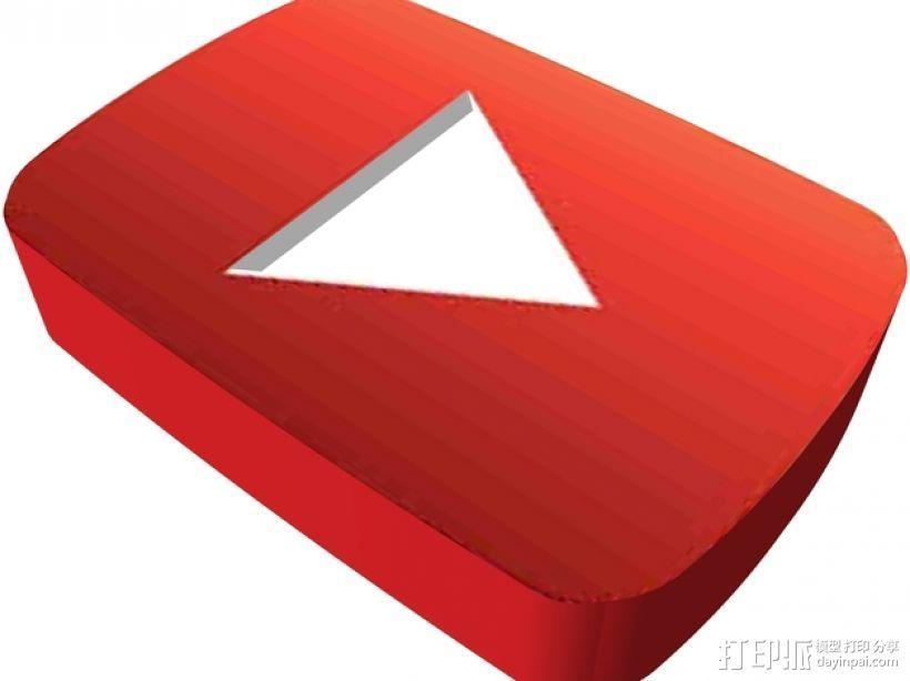 YouTube标识 3D打印模型渲染图