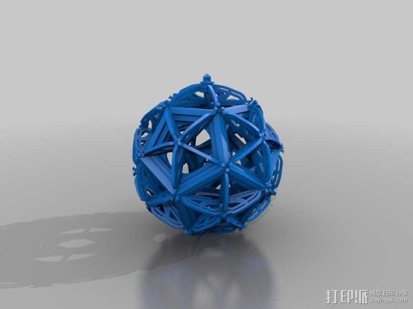 RCS 镂空装饰品 3D打印模型渲染图